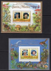British Virgin Islands 1986 Concorde/Mushrooms/Butterflies/Birds 2 SS Perforated