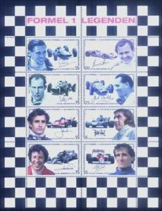HERRICKSTAMP AUSTRIA Sc.# 2051 Formula 1 Auto Racing Automobile Stamps