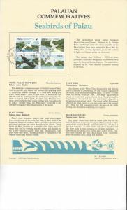 Palau Commemoratives Panel, Seabirds of Palau, Koror, FDC 1984