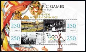 [93057] Grenada 2008 Olympic Games Antwerp Stadium Sheet MNH