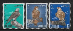 ABU DHABI SG12/4 1965 FALCONS SET MNH