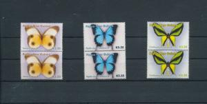 Papua New Guinea Butterflies Insects Pairs MNH 6 Stamps Pap250a