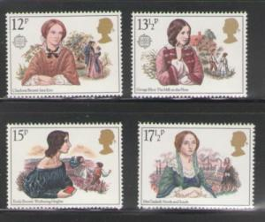 Great Britain 1980 Sc 915-8 1980 Europa, Victorian Novelists, stamp set mint NH