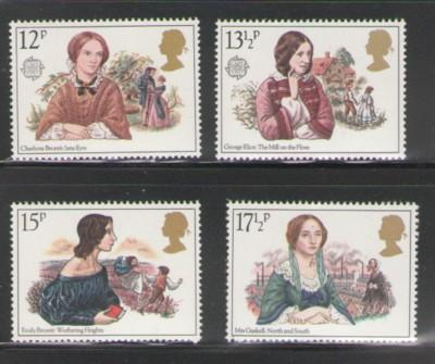 Great Britain 1980 europa, Victorian Novelists, stamp set mint NH