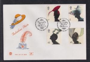 GB 2001 QE2 FDC Fashion Hats  set  SHS Ascot Pmk.- G160