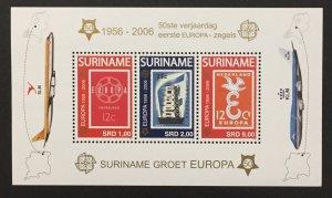 Suriname 2006 #1336a S/S, Europa 50th Anniversary, MNH.