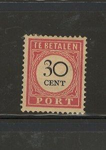 NETHERLAND INDIES,1881 1887 P. DUE D5 #J21  C.V. $17.50 M.H.