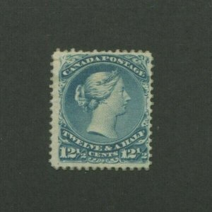 1868 Canada Postage Stamp #28 Mint Hinged F/VF Original Gum