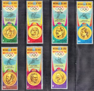 EQUATORIAL GUINEA LOT # 6  CTO 1972 OLYMPICS   SEE SCAN