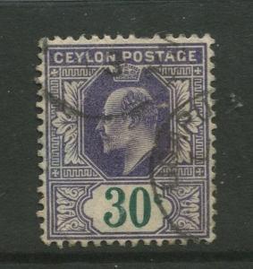 STAMP STATION PERTH: Ceylon #174 Used  1903  Single 30c Stamp