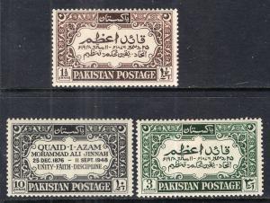 Pakistan 44-46 Unused Mint Hinged BIN