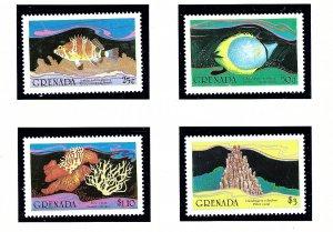 Grenada 1333-36 MNH 1985 Fish and Coral            (KA)