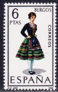 Spain # 1400, Burgos Regional Costume, Mint NH