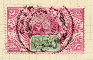 Egypt 1890s Salt Tax Early Issue Fine Used 1L. Postmark NW-13267