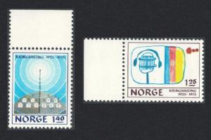 Norway 50th Anniversary of Norwegian Broadcasting System 2v Margins SG#746-747