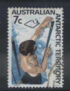 Australian Ant.Terr.- Scott L12- Definitive Stamp-1966-68 - VFU - 7c Multi-Lot 1