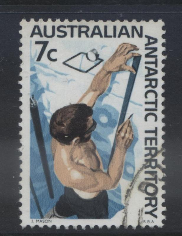 Australian Ant.Terr.- Scott L12- Definitive Stamp-1966-68 - VFU - 7c Multi-Lot 1