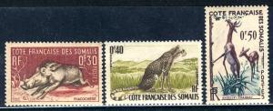 Somali Coast 1958: Sc. # 271-273; **/MNH Cpl. Set