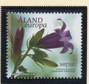 Aland Sc 356 2014 355 Flower stamp  mint NH