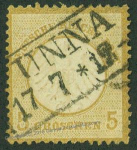 Germany Empire 5 Groschen Small Eagle Michel 6 Used Unna Box Cancel 50129