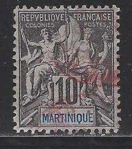 Martinique Scott # 38, used
