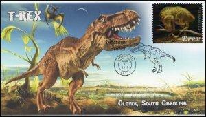 19-335, 2019, T-Rex, Pictorial Postmark, Event, Clover SC, Tyrannosaurus Rex