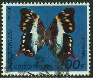 Ivory Coast #446D Used Stamp - Butterfly (c)