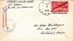 1945, USS Idaho, BB-42, Tokyo Bay to Portland, OR (KK481)