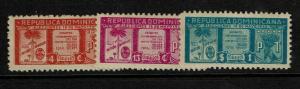 Dominican Republic SC# 393 - 395 Mint Hinged / Light Gum Tone - S7578
