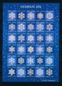 [22782] Faroe Islands 2002 Christmas Seal Complete unfolded Jol sheet MNH