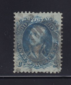 72 VF+ used neat bold cancel with nice color cv $ 600 ! see pic !