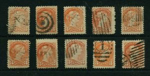 Montreal printings various shades and cancels Small Queen lot Canada collection