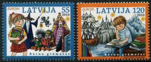 HERRICKSTAMP LATVIA Sc.# 758-59 Europa 2010