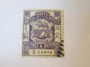 North Borneo #38 used