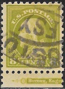 US 431 Used - Benjamin Franklin - Inscription Selvedge