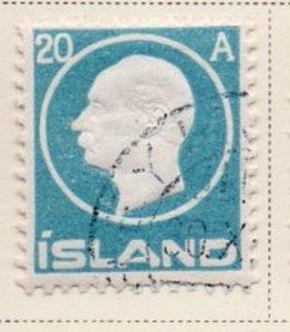 Iceland Sc 94 1912 20 aur Frederik VIII stamp used