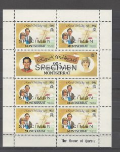 COLLECTION LOT # 4270 MONTSERRAT #565-6 MNH 1981 SPECIMEN 1 SHEETS