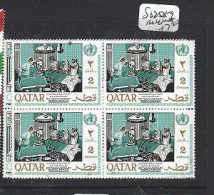 QATAR  (P2506BB)  UN  SG 258-9  BL OF 4  MNH