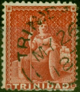 Trinidad 1863 (1d) Lake SG69 Fine Used