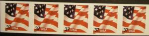 US Stamp #3632 MNH - US Flag PS5 #7777 Coil Strip of 5