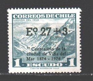 Chile. 1974. 803. Mountains, tourism, lake. MVLH.