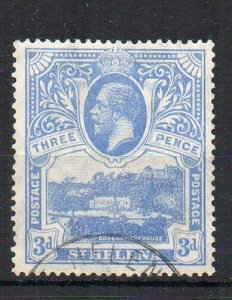 St Helena 1933 3d Government House FU CDS