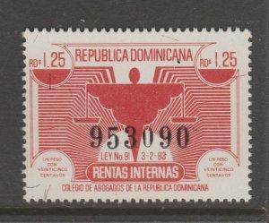 Dominican Rep revenue Cinderella stamp 6-2-2b mint