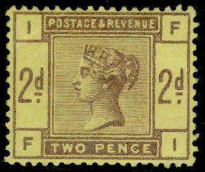 SG189var, 2d purple on yellow, M MINT. Cat £575. COLOUR TRIAL