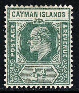 CAYMAN ISLANDS King Edward VII 1905 Half Penny Green Wmk Mult Crown CA SG 8 MINT