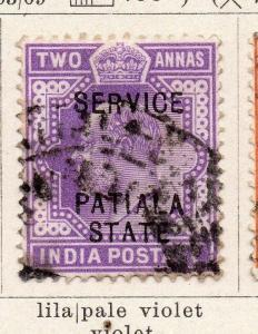 India Patiala 1903 Early EdVII Issue Used 2a.