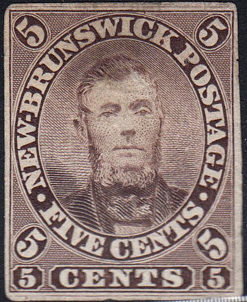 NEW BRUNSWICK 5P on INDIA PAPER. (122018a)