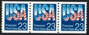 US Stamp #2607 MNH - 'Chrome USA' Coil Strip of 3