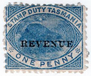 (I.B) Australia - Tasmania Revenue : Duty Stamp 1d
