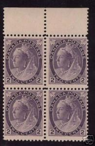 Canada #76a Mint NH Rare Block Of Four *With VGG Cert.*